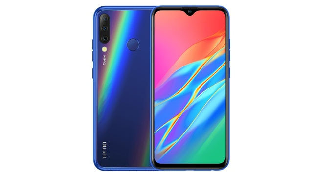 Tecno Camon i4 blue